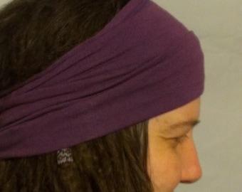 Buff - HeadBand - DreadBand - Hair Tube - Cowl - Grape Purple Head Hugger XL