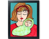 Sleeping Baby Art Print -...