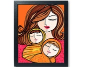 Mother and Twins Print - ...
