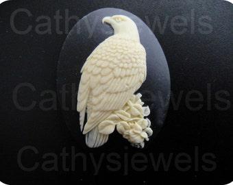 Ivory Eagle Portrait Cameo 40x30