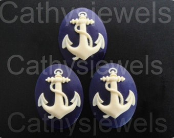 Anchor Silhouett Cameos Set Of Three