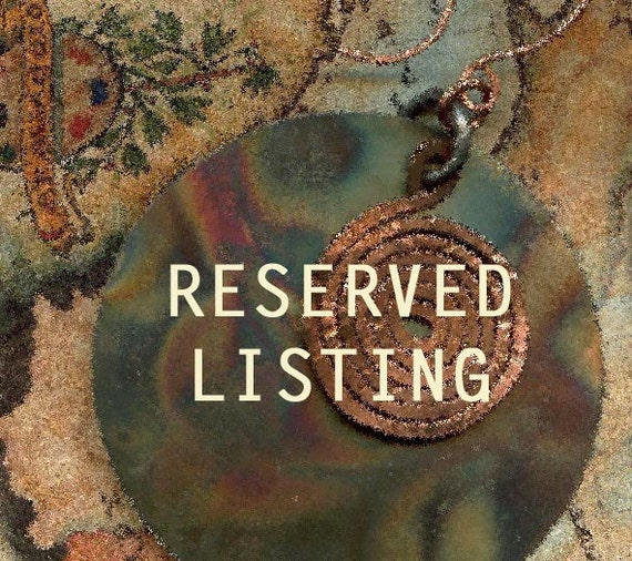RESERVEd for Calamity  Jane - Do not buy