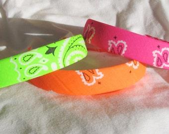Neon Bandana Headband Hairband