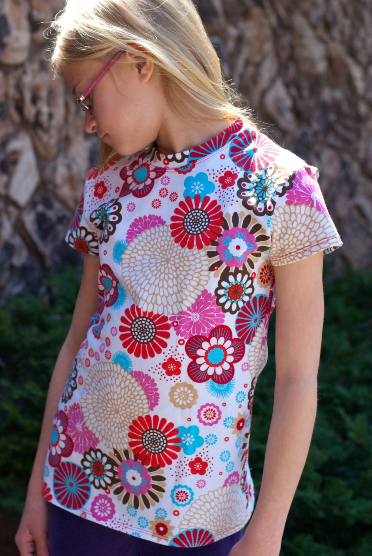 Girls t shirt patterns