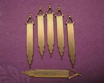 Chime Chandelier Drop Charms Brass Finding on Etsy x 6