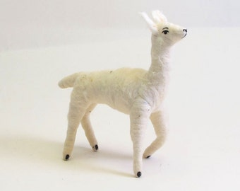 Vintage Inspired Spun Cotton Llama Ornament/Figure