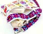 Medium Double Pocket Wet Bag / Adjustable and Removable Strap / Little Kukla Matryoshka Doll Fabric / Diapers / Gym / Swim / SEALED SEAMS