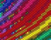 BPRB0008 Rainbow 8 Even Count Single Drop Peyote Cuff/Bracelet Pattern