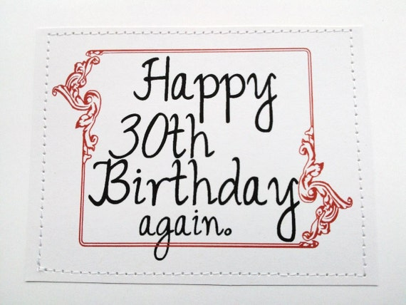 Items similar to Hilarious funny birthday card. Happy 30th ...
