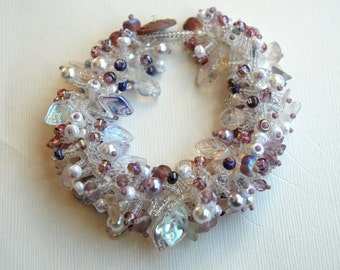 Sparkle - Beaded Fringed Bracelet