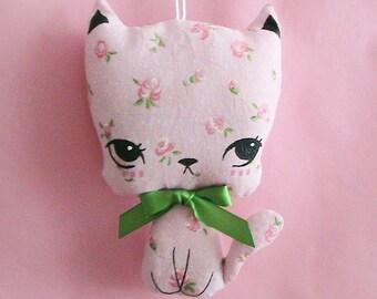 Little Kittie Plush Ornament - Pinkirose