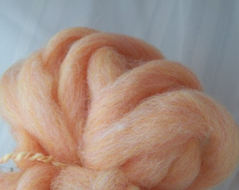 CANDY SHOPPE wool gummy Peach Ring new zealand and domestic wool roving blend felting or spinning Bare Sheep Yarn Company