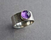RESERVED FOR JACKIE Sale 40 Dollar Ring: Sterling Silver and Amethyst