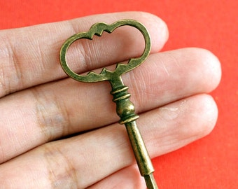 Sale Lead Free 4pcs Big Antique Bronze Key Pendants A18866-AB-FF