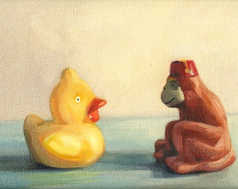 Listen  -  8x10 unframed original oil painting