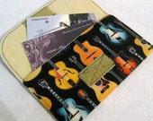 Guitar mini wallet card pouch Rockstar black
