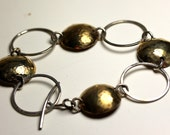 IMJ Elegance Sterling Silver and Brass Bracelet 8 Inch