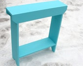 Console Table, Wood Table, Storage Table, Narrow Table, Entryway Table, Sofa Table, Shoe Storage, Painted Furniture, Beach Coastal Decor