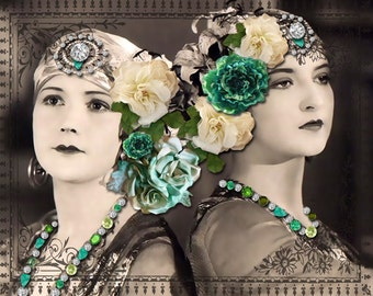 Instant Download Vintage Woman Gypsy Soul Sisters Digital Download Commercial Use digital graphics digital paper
