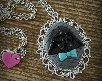Darth Vader Inspired Cameo Necklace
