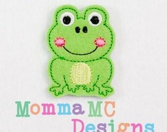 Frog Felt Embroidery Design