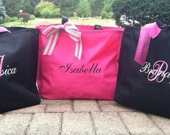 Bride Tote Bag Bridesmaid Maid of Honor Personalized Embroidered Monogrammed