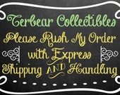 Rush Order with express s&h for inventory rubber stamp orders