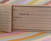 Vintage French Receipts Book Livret de Recus No. 715