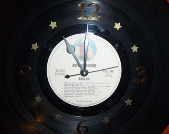 Vinyl Record Album Wall Clock - EAGLES - Recycled