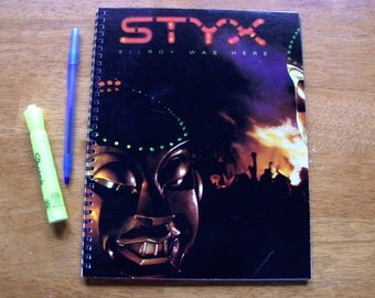 Record Album Journal Sketch book - STYX - Vinyl LP Recycled