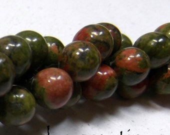 Unakite 6mm Round Beads 16IN Strand