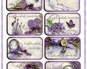 Lovely Lavender Altoid Tin Labels Cottage Chic Project Digital  INSTANT DOWNLOAD