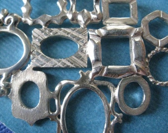 Sterling Silver Miniature Frame Collage Necklace Short and Long
