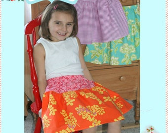 Instant Download The Penny Skirt DIY Tutorial PDF Pattern Ebook Easy Peasy Sizes 1-6