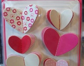 Pebbles Inc 3-dimensional heart stickers