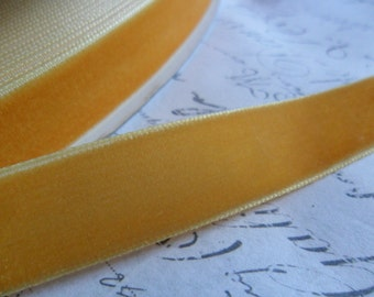 5/8inch Golden Buttercup Velvet Ribbon