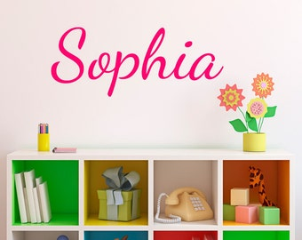 Child's Name Wall Decal - Fancy Script Wall Decal - Personalized Wall Decal - Name Wall Decal - Kid Name Decal - Baby Name Decal - ND1