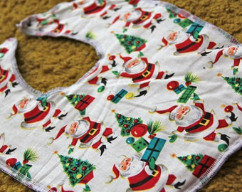 Retro Santas Baby and Toddler Bib