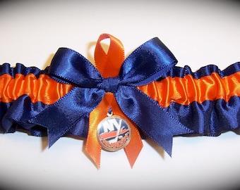 New York Islanders Wedding Garter   Handmade  Toss  Satin NO