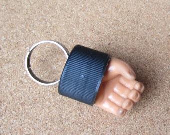 Fight Club  - upcycled GI Joe hand bottle cap ring