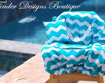 Shopping Cart Cover - Designer Cart Cover - Grocery Cart Cover -  Teal Chevron
