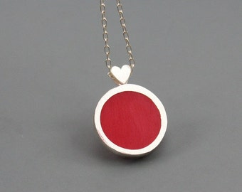 Be My Valentine Sterling Silver and resin Pendant