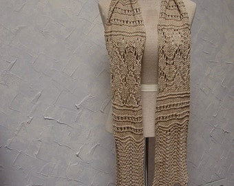 Pattern for Knit Lace Scarf