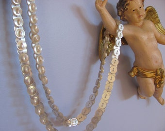 vintage button and pearl necklace