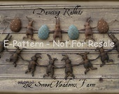 Primitive E-Pattern Rabbit and Egg Garland and Ornie for Dolls PDF