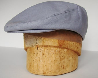 Grey Cotton Canvas Jeff Cap, Ivy Cap, Driving Cap for Men, Women, and Children