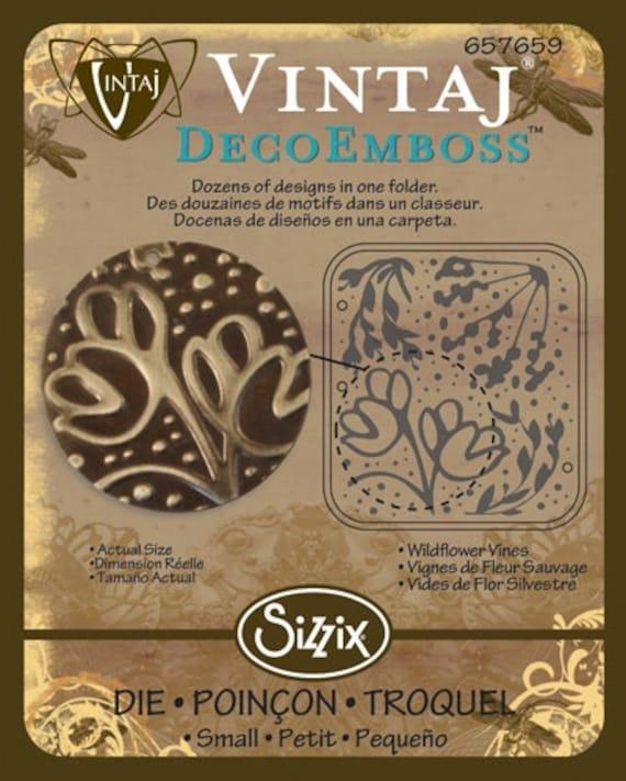 SALE Sizzix DecoEmboss Die - Wildflower Vines by Vintaj
