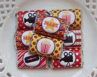 Printable Movie Night Birthday Mini Candy Bar Wrappers