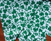 St. Patrick's Day Fabric Banner, Green Bunting.  Ready To Ship.  Photo Prop, Nursery Decoration, Party Banner.