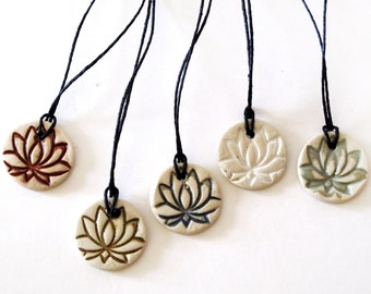NEW Ceramic Lotus Flower Charms